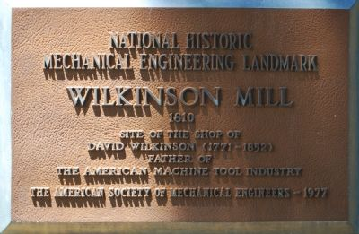 Wilkinson Mill Marker image. Click for full size.