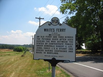 White's Ferry Marker image. Click for full size.