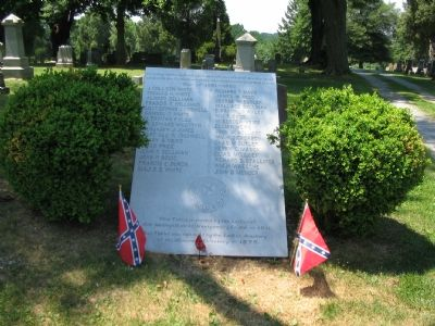 Tablet Honoring the Confederate Veterans image. Click for full size.