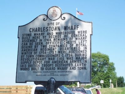 Site of Charlestown Wharf Marker image. Click for full size.