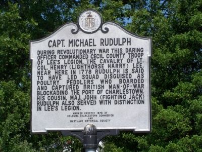 Captain Michael Rudulph Marker image. Click for full size.