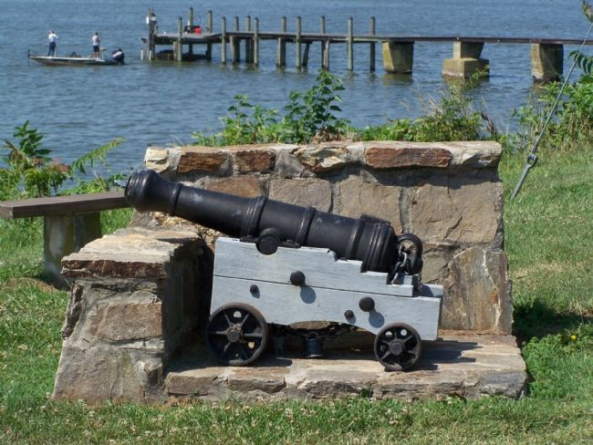 Revolutionary War Cannon in Park at Captain Michael Rudulph Marker image. Click for full size.