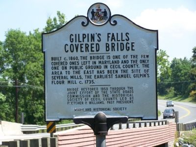 Gilpin's Falls Covered Bridge Marker image. Click for full size.