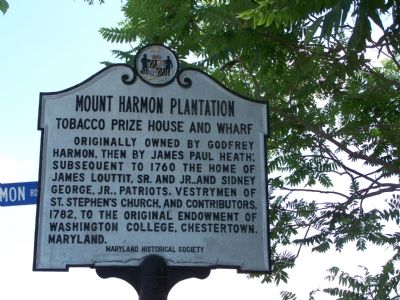 Mount Harmon Plantation Marker image. Click for full size.