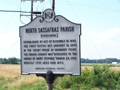 North Sassafras Parish Marker image. Click for full size.