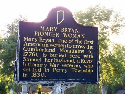 Mary Bryan, Pioneer Woman Marker image. Click for full size.