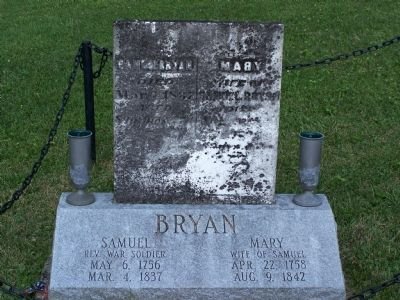 Close up of the Bryan markers. image. Click for full size.