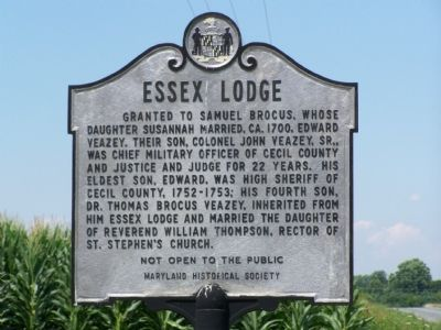 Essex Lodge Marker image. Click for full size.