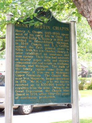 Henry Austin Chapin side of the marker image. Click for full size.