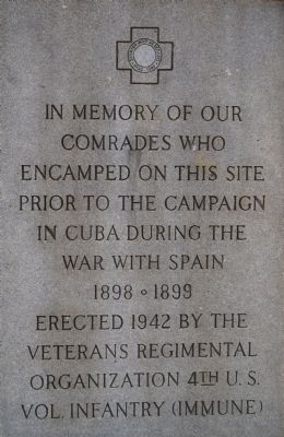 Spanish War Veterans Marker image. Click for full size.