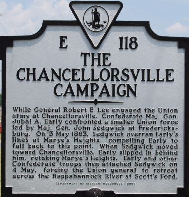 The Chancellorsville Campaign Marker image. Click for full size.