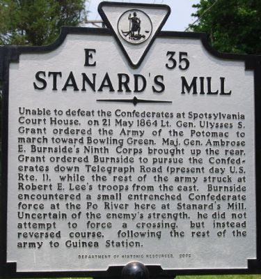 Stanard's Mill Marker image. Click for full size.