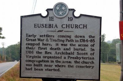 Eusesbia Church Marker image. Click for full size.