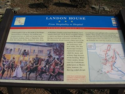 Landon House Marker image. Click for full size.