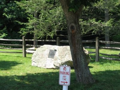The Marker is on a Boulder at the Park Entrance image. Click for full size.