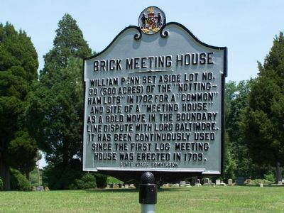 Brick Meeting House Marker image. Click for full size.