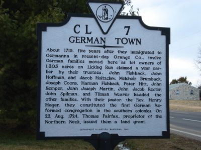 German Town marker image. Click for full size.