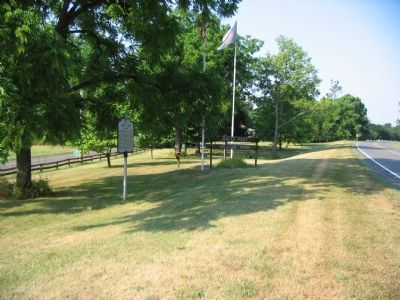The Marker and Boy Scout Plaque in the Village Park image. Click for full size.