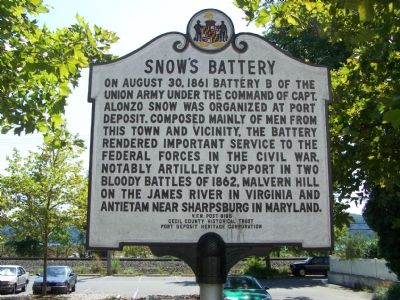 Snow's Battery Marker image. Click for full size.