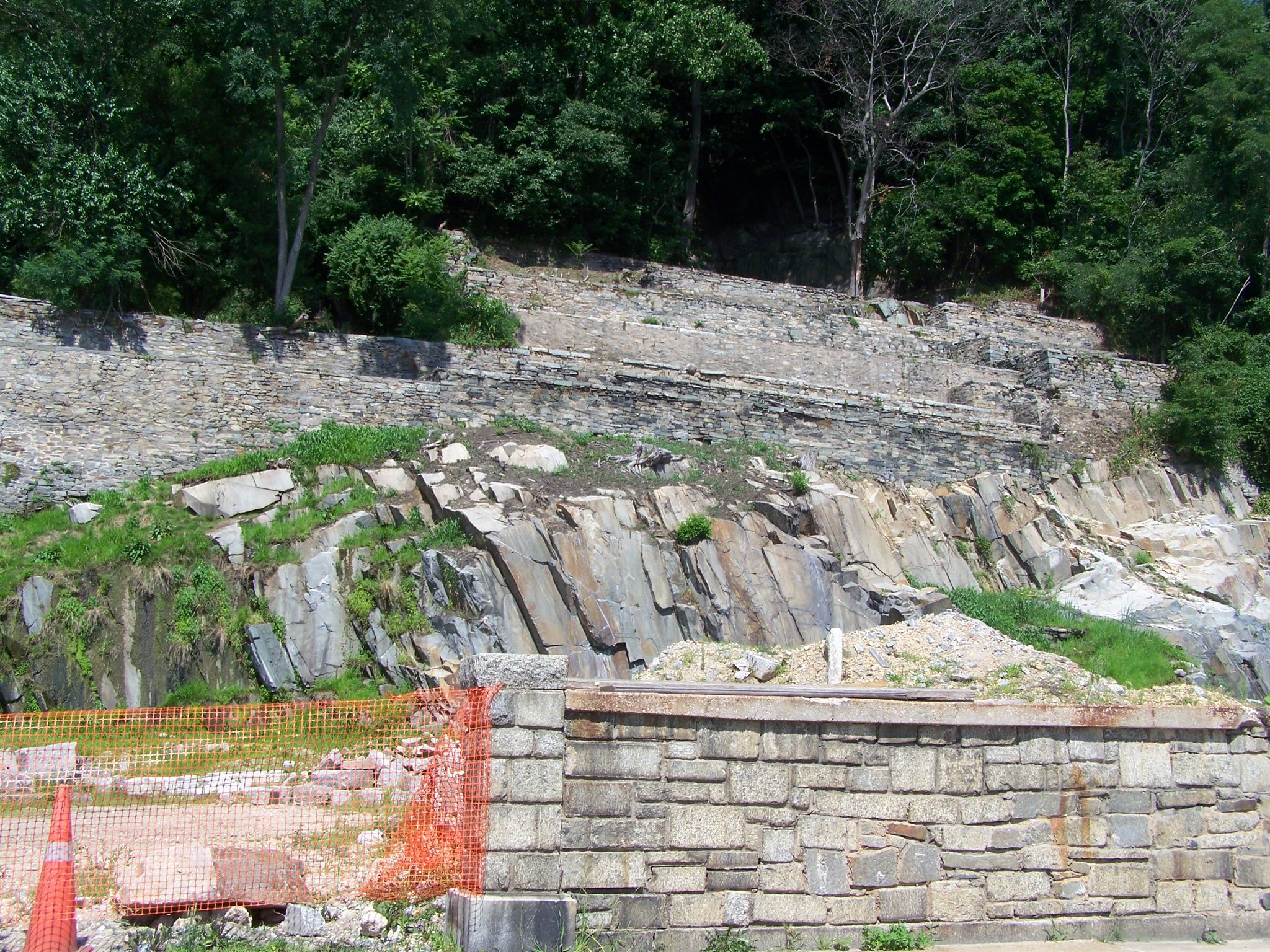 Granite terraces near Main Street