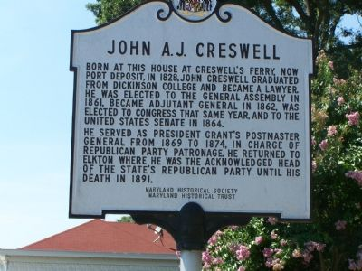 John A. J. Creswell Marker image. Click for full size.