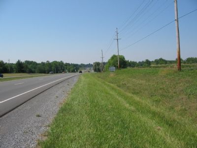 Markers J1 and J14 on Highway 340 North of Berryville image. Click for full size.