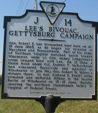 Lee's Bivouac Marker image. Click for full size.