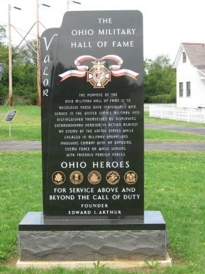 The Ohio Military Hall of Fame Monument image. Click for full size.