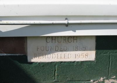 Church Cornerstone image. Click for full size.