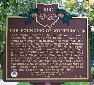 The Founding of Worthington Marker image. Click for full size.