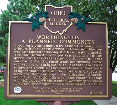 Worthington, A Planned Community Marker image. Click for full size.