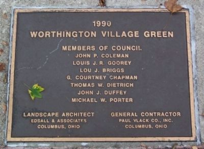 Village Green Improvement Marker, 1990 image. Click for full size.