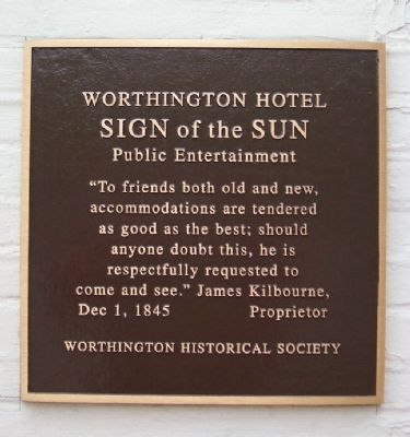 Worthington Hotel Marker image. Click for full size.