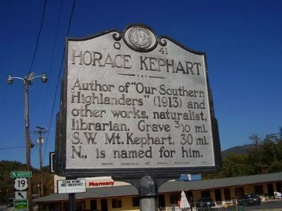 Horace Kephart Marker image. Click for full size.