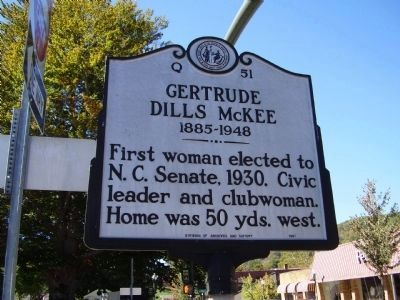 Gertrude Dills McKee Marker image. Click for full size.