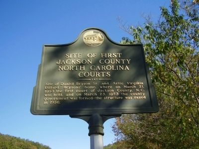 Site of First Jackson County North Carolina Courts Marker image. Click for full size.