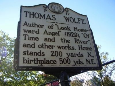Thomas Wolfe Marker image. Click for full size.