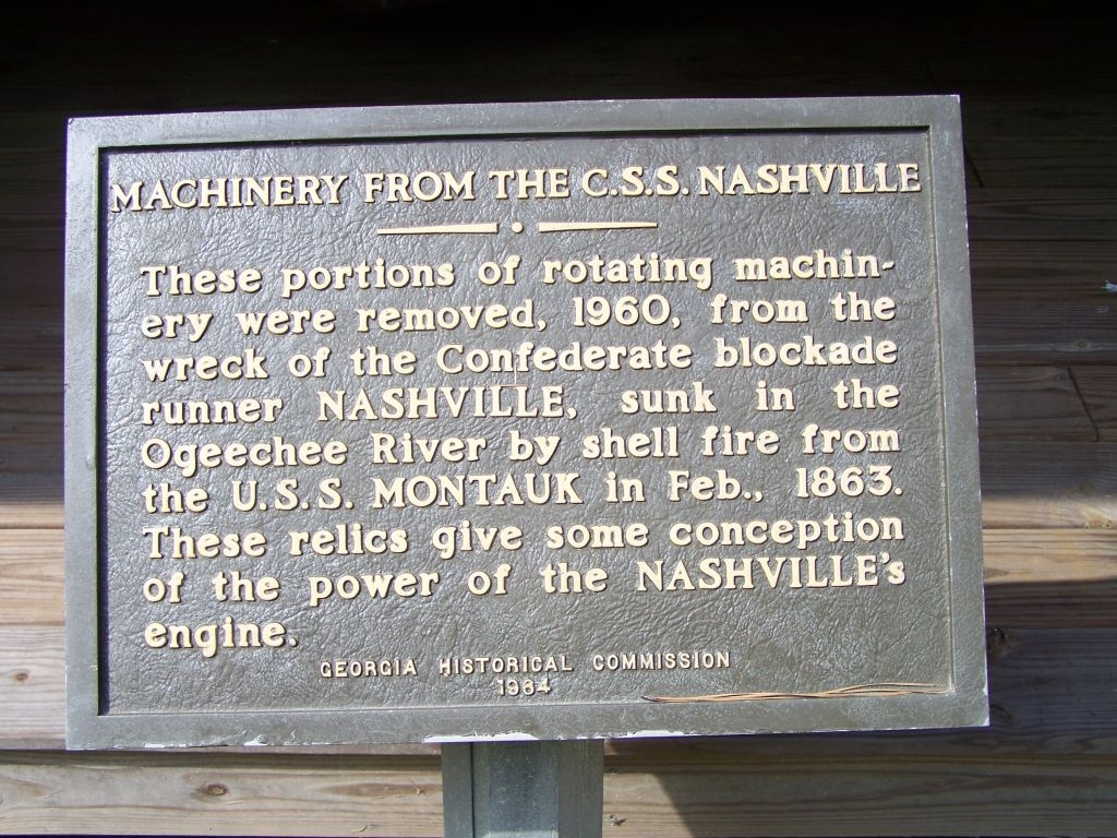 Machinery From The C.S.S. Nashville Marker