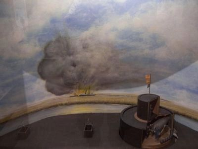 Diorama of the Montauk's gun turret, at museum image. Click for full size.