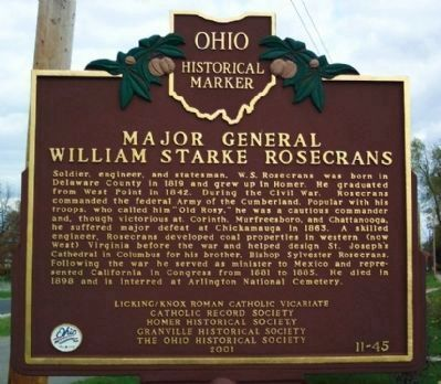 Major General William Starke Rosecrans Marker image. Click for full size.