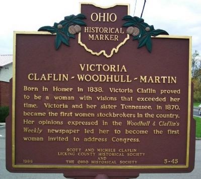 Victoria Claflin-Woodhull-Martin Marker image. Click for full size.