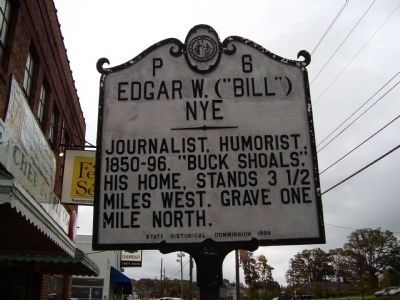 "Edgar W. (""Bill"") Nye Marker image. Click for full size."