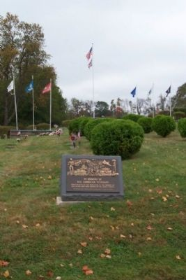 Floral Hills All American Veterans Marker and Flags image. Click for full size.