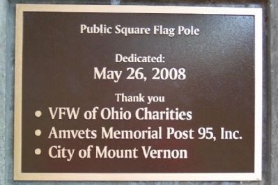 Knox County Veterans Walk of Honor Flagpole Marker image. Click for full size.