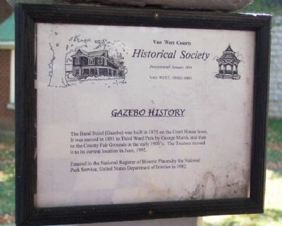 Gazebo History Marker image. Click for full size.