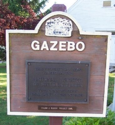 Gazebo National Register Marker image. Click for full size.