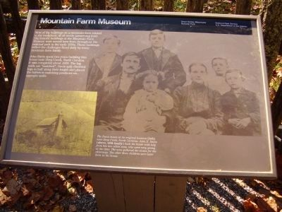 Mountain Farm Museum Marker image. Click for full size.