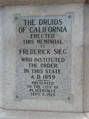 The Druid Monument Inscription image. Click for full size.