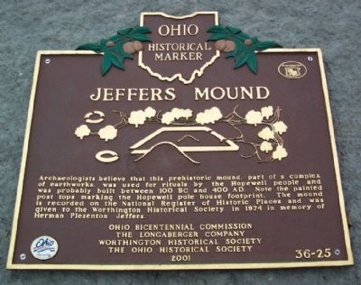 Jeffers Mound Marker image. Click for full size.
