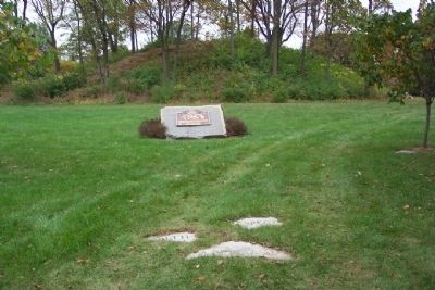Jeffers Mound and Marker image. Click for full size.